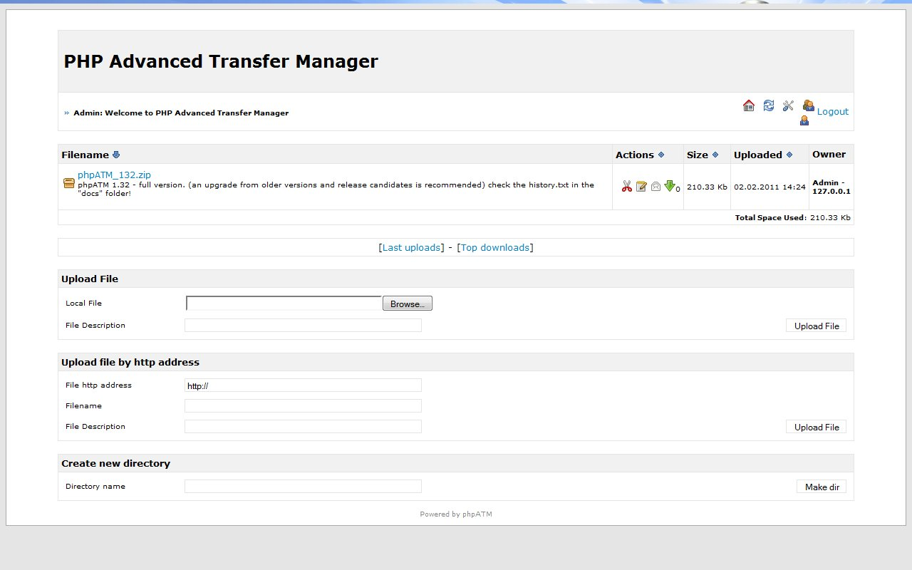 PHP Advanced Transfer Manager