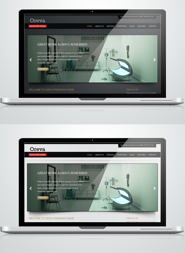 Oreva Business html5 template