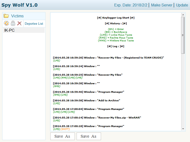 Spy wolf 1.0  no anti-virus detection keylogger