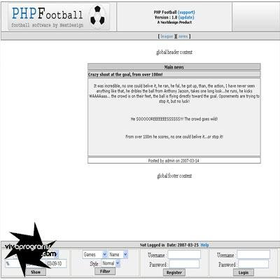 PHP Football Script