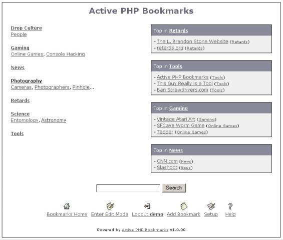 Active PHP Bookmarks
