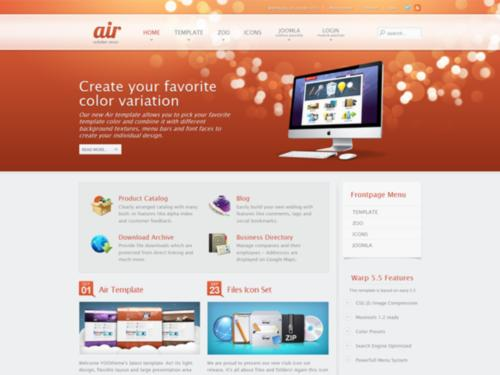 Air Yootheme Joomla Template