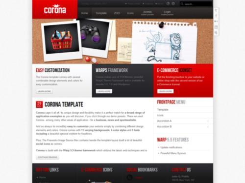 Corona Yootheme Joomla Template