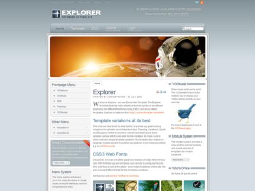 Explorer Yootheme Joomla Template