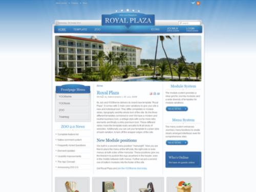 Royal Plaza Yootheme Joomla Template