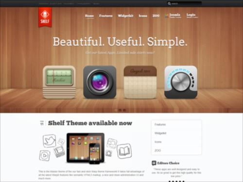 Shelf Yootheme Joomla Template