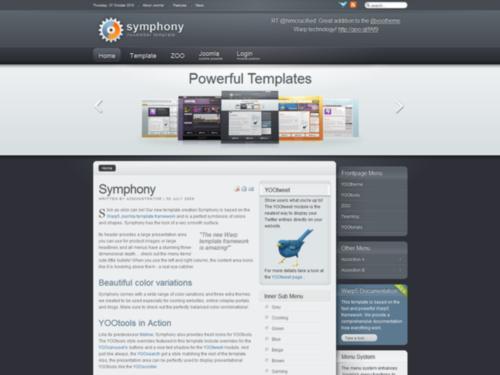 Symphony Yootheme Joomla Template
