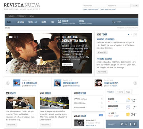 Free Download Revista Nueva Yootheme WordPress Theme - Clone Site